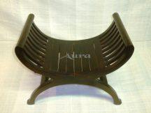 105011 Indonéz fa ollós szék sötét