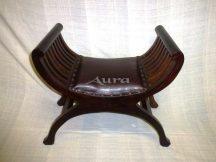 105013 Indonéz bőrös ollós szék sötét