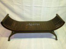 105015 Indonéz fa ollós szék sötét dupla