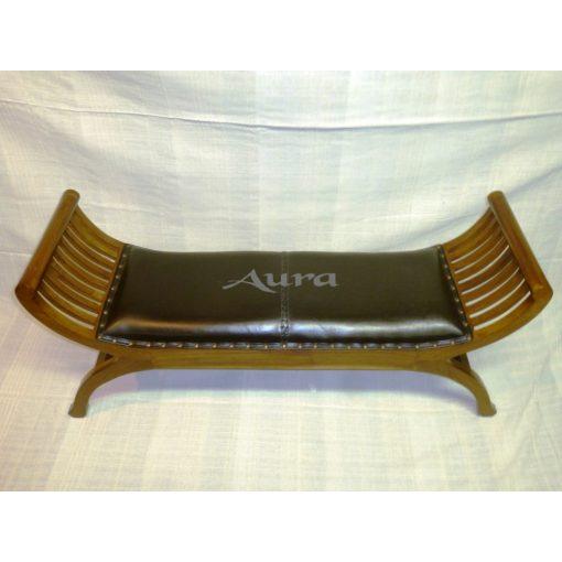 105016 Indonéz bőrös ollós szék világos dupla