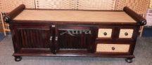 106002 Thai rattanos cipős szekrény