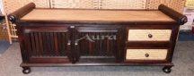 106004 Thai rattanos cipős szekrény