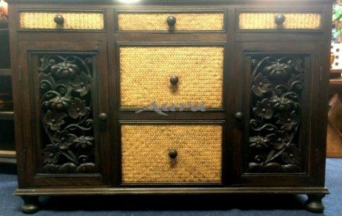 106007 Thai rattanos TV szekrény