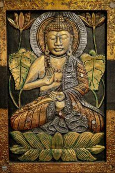 301027 Buddha falikép