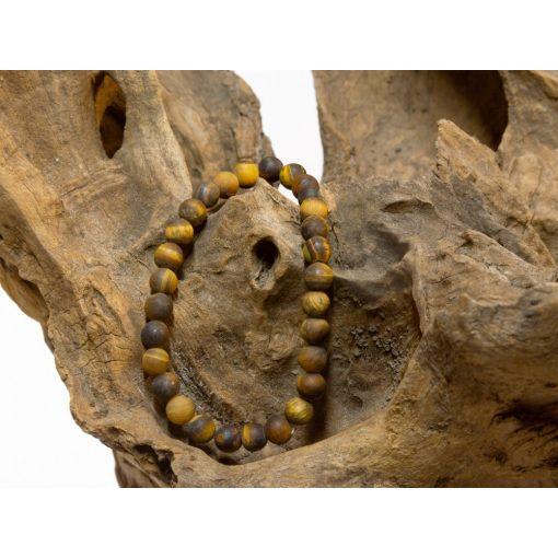 401002 Matt tigrisszem karkötő