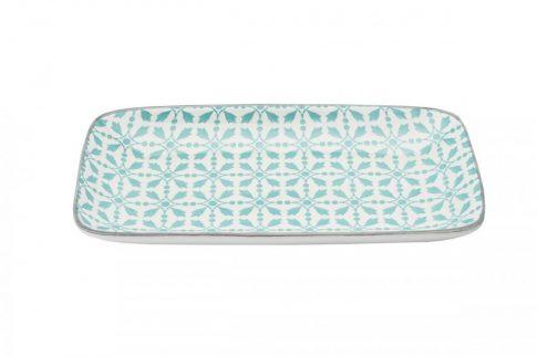 Modern design porcelán négyszögletes  tál. Brand:Nora's design