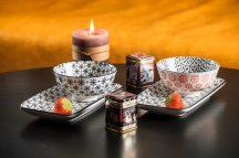 Asia tea 4 részes modern design porcelán teázó készlet 2 személyre. Brand:Nora's design