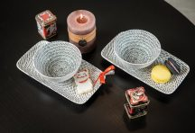 Bali 4 részes modern design porcelán étkészlet 2 személyre. Brand:Nora's design