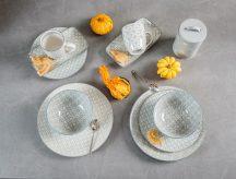50 shades of grey 10 részes modern design porcelán étkészlet 2 személyre.  Brand:Nora's design
