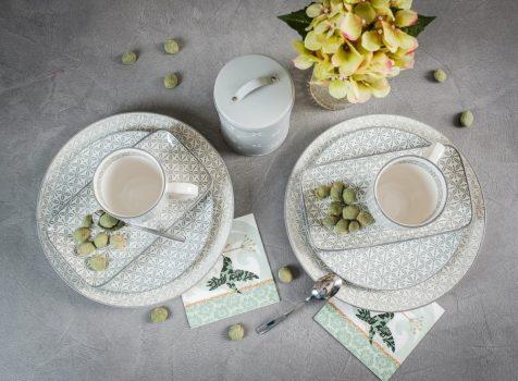 50 shades of grey 8 részes modern design porcelán étkészlet 2 személyre. Brand:Nora's design