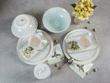 50 shades of grey 9 részes modern design porcelán étkészlet 2 személyre.  Brand:Nora's design