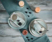 Happy family Xl 8 részes modern design porcelán étkészlet 2 személyre. Brand:Nora's design
