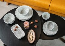 Bali 20 részes modern design porcelán étkészlet 4 személyre. Brand:Nora's design