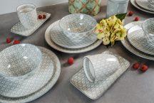 50 shades of grey 20 részes modern design porcelán étkészlet 4 személyre. Brand:Nora's design