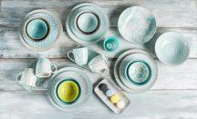 Happy family 25 részes modern design porcelán étkészlet 4 személyre. Brand:Nora's design