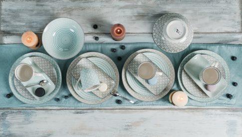 Happy family XI 18 részes modern design porcelán étkészlet 4 személyre. Brand:Nora's design