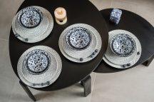 Flowers of princess 16 részes modern design porcelán étkészlet 4 személyre. Brand:Nora's design