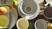 Retro star 28 részes modern design porcelán étkészlet 4 személyre Brand:Nora's design