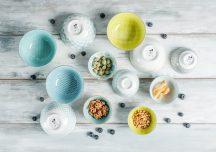 Living colour 12 részes modern design porcelán étkészlet 6 személyre. Brand:Nora's design