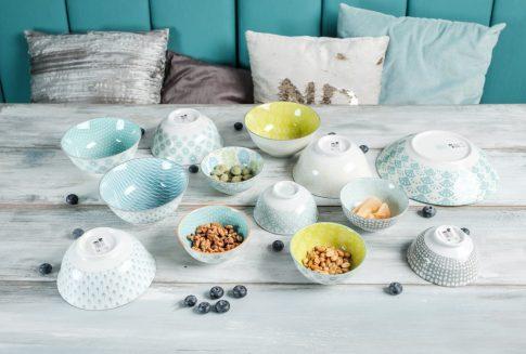 Living colour 13 részes modern design porcelán étkészlet 6 személyre. Brand:Nora's design