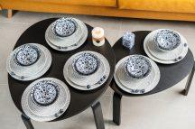 Flowers of princess 24 részes modern design porcelán étkészlet 6 személyre. Brand:Nora's design
