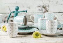 Happy family 16 részes modern design porcelán étkészlet 8 személyre. Brand:Nora's design