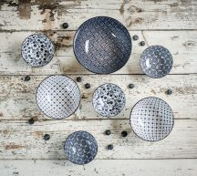 Santorini 7 részes modern design porcelán étkészlet Brand:Nora's design